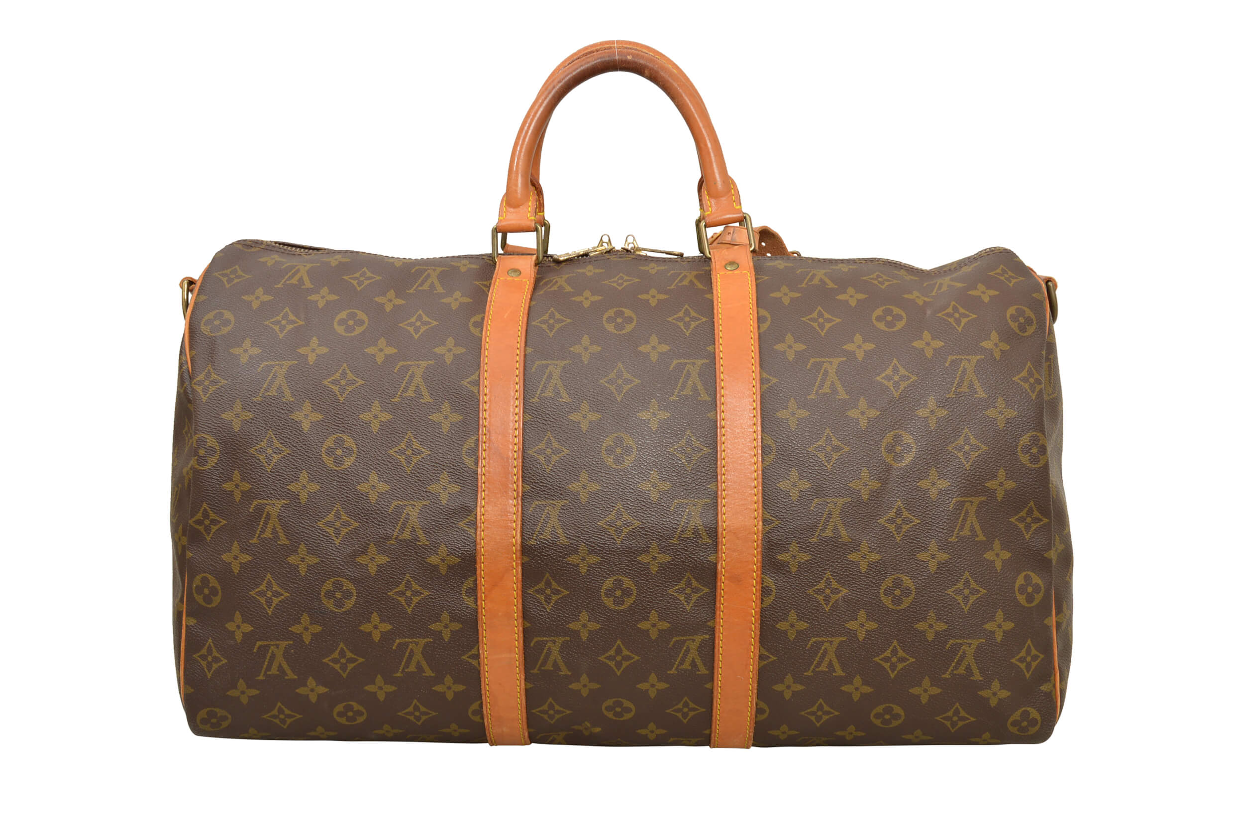 louis vuitton monogram keepall 45 bandouliere travel bag m41418 d02988 ebay. Black Bedroom Furniture Sets. Home Design Ideas